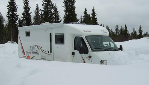 Mycket snö i Lillehammer