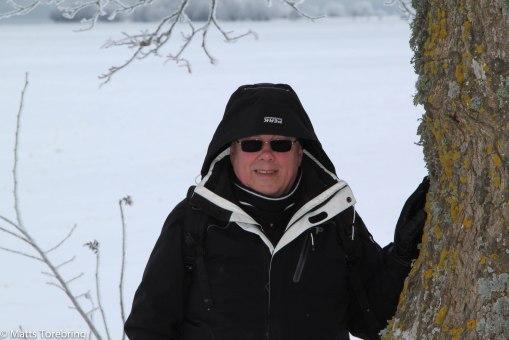 Set var kallt att gå strandpromenaden i Vadstena