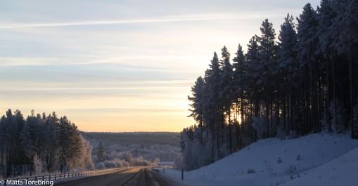 På väg ned mot Bredestad.