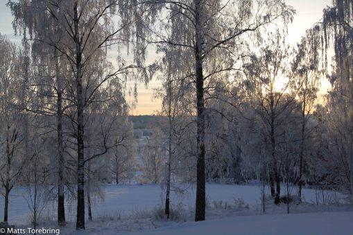 Soluppgång sett från Sommarhemmet Stalpet.