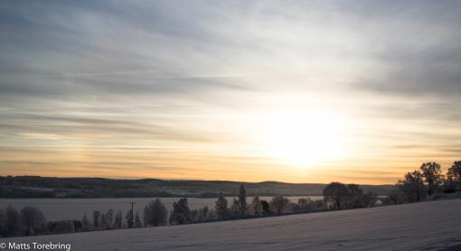 Soluppgång över sjön Ralången.