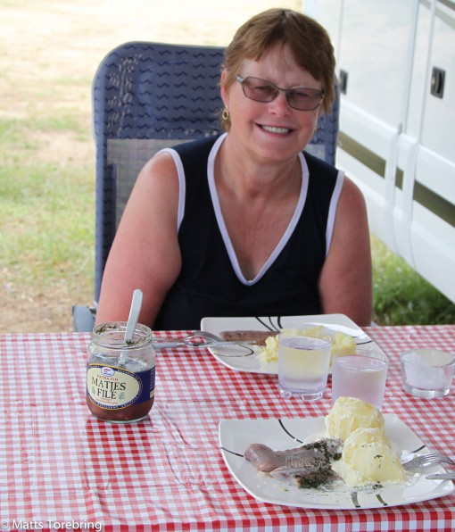 Matjesill, grädde och potatis