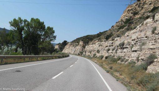 Nu har vi lämnat stora autopista och styr ut mot Caspe