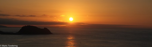 Solen går ned i Biscyabukten