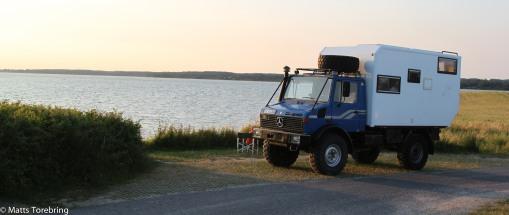 En annorlunda bil på Møns rastplats
