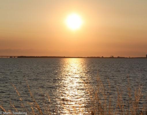Solen går ned över Kattegatt och vi sover återigen gott på Møns rastplats