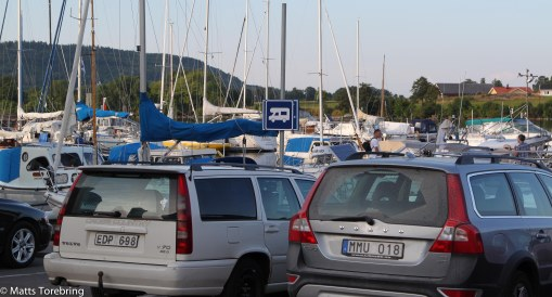 Detta är ställplatsen i hamnen på Hästholmen.