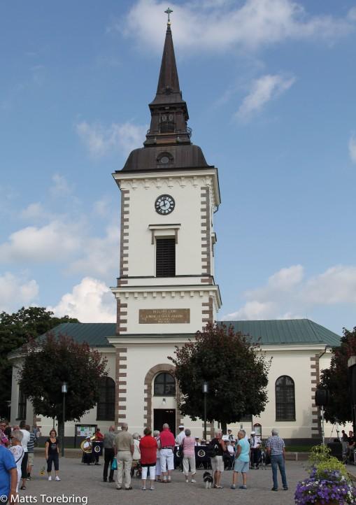Kyrkan vid torget i Hjo
