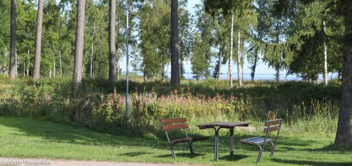 Rastplatsen på väg ut mot Götene.