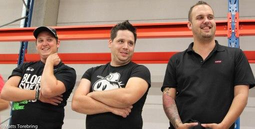 Tre glada servicetekniker