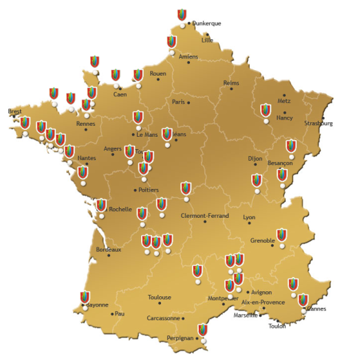 Frankrikes alla Slottscampingar