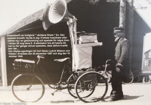 Resande Trattgrammofon