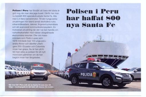 Polisen i Peru har haffat 800 Santa Fe