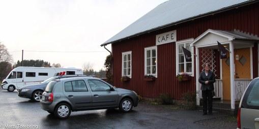 Rommedals Cafe alldeles utanför Öggestorp