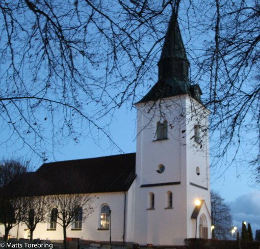 Frinnaryds kyrka i Aneby kommun, där Birgitta och jag vigdes 1969