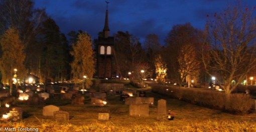 Aneby kyrkogård där mina föräldrar vilar