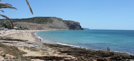 Stranden strax utanför Lagos i Portugal.
