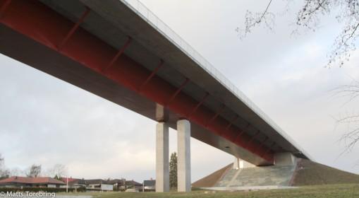 Norra påfarten på bron