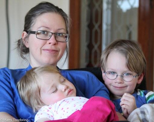 Vår dotter Candra och barnbarnen Oliver & Nelley