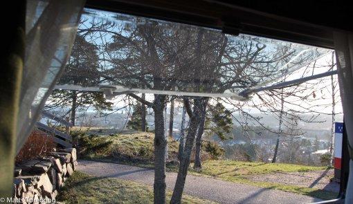 Utsikt från vårt sovrumsfönster