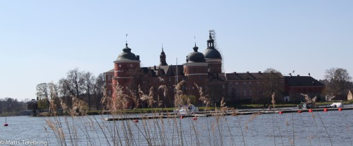 Vi provparkerade på en av ställplatserna mitt emot Gripsholms Slott