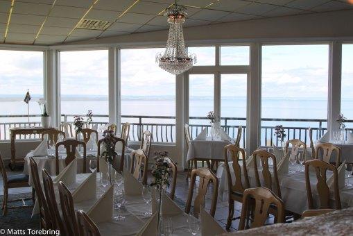 En härlig utsikt vid de flesta borden.
