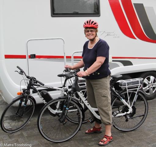 Provtur med nya Giant el-cyklarna