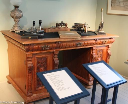 Från detta skrivbord styrdes allting i företaget