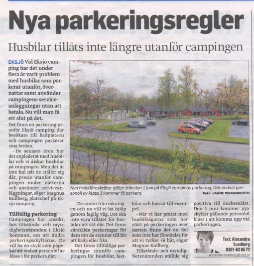En tråkig artikel i Smålands Tidningen idag