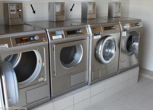 Tvättmaskinerna på campingen.