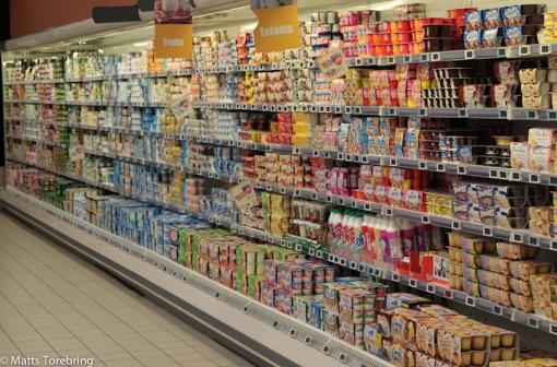En del av yoghurt avdelningen.