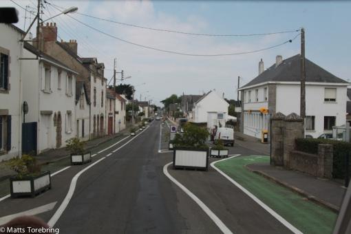 Bitvis smala enkelriktade gator, finns inte plats för mötande trafik