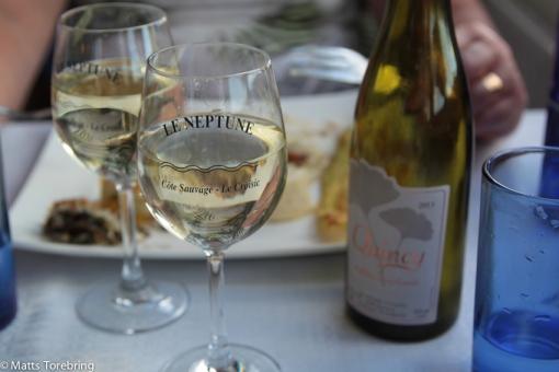 Jag bad om att få ett gott vitt vin till och det fick vi.