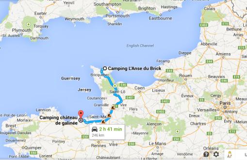 Dagens etapp av vår Tour in France