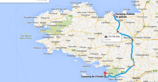 Dagens etapp på vår Tour in France var bara 200 km från början