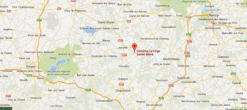 Här hittar du campingen i nordöstra Frankrike