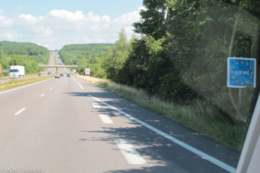 För första gången kör vi genom Luxenburg