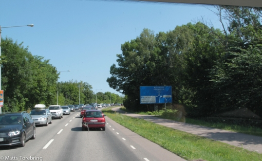 Som vanligt trafikstockning vid Borgholm