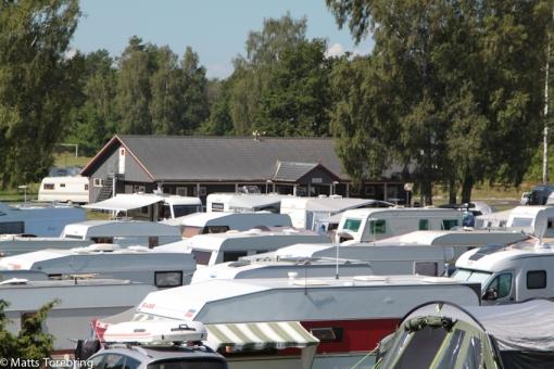 Vår utsikt under nästan alla år på Löttorps Camping