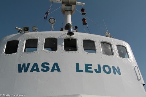 Wasa Lejon, en trång och sliten båt
