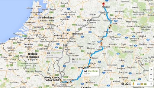 Dagens etapp på kartan