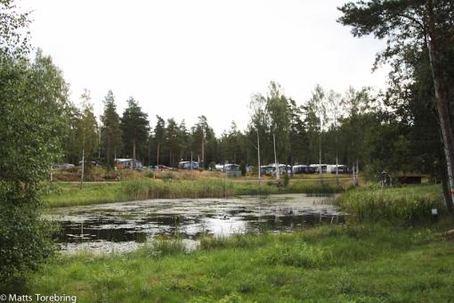 Fontänen har säkert slammat igen här, men så många flera uppe på campingen
