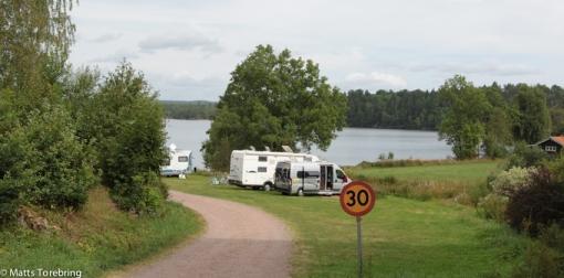 Här i Norra Vi sov vi vår första natt någonsin i husbil, en Bürstner A-532.