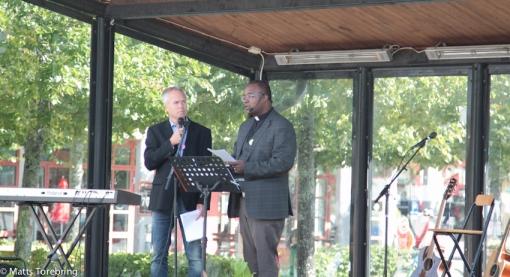 Pastor Duressa Mabesha predikade och Tomas Arvidsson tolkade