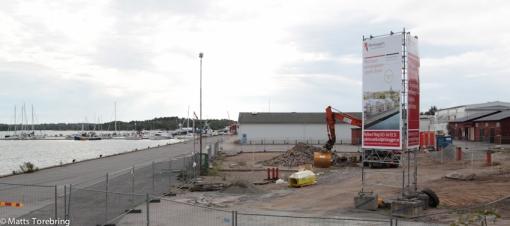 Den tidigare ställplatsen vid Skeppsbrokajen