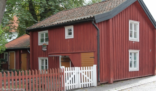 Det finns många gamla hus i Västervik