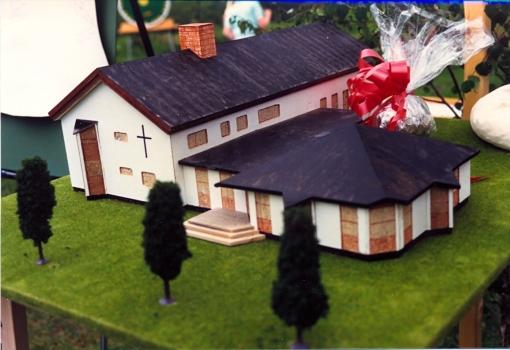 Min modell över nya Fredstorgskyrkan 1987