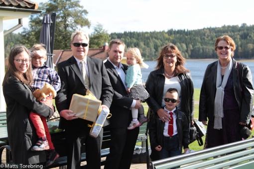 Barn & barnbarn kom hem för att gratulera