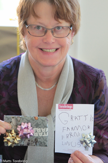 Birgitta är stolt över sina tre barnbarn