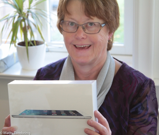Birgitta fick bland annat en iPadAir Wifi Cell